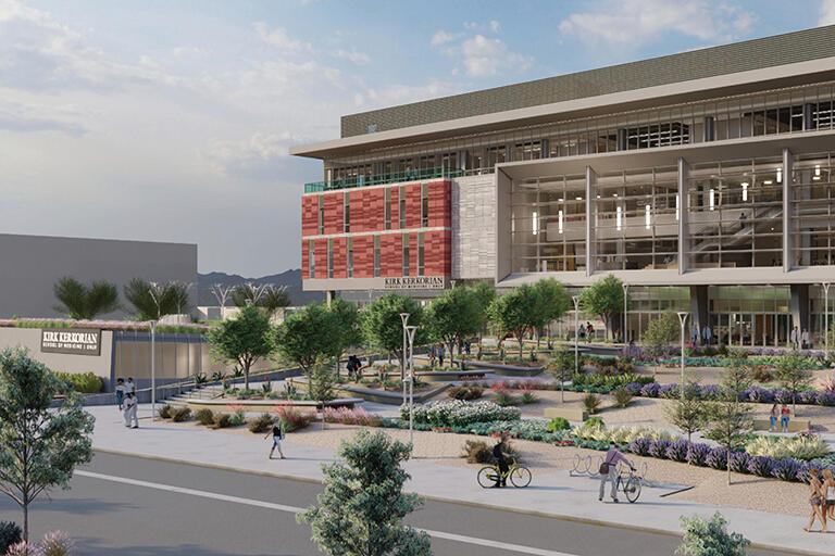 A rendering of the new Medical Education Building (Courtesy of Nevada Health and Bioscience Asset Corp.)