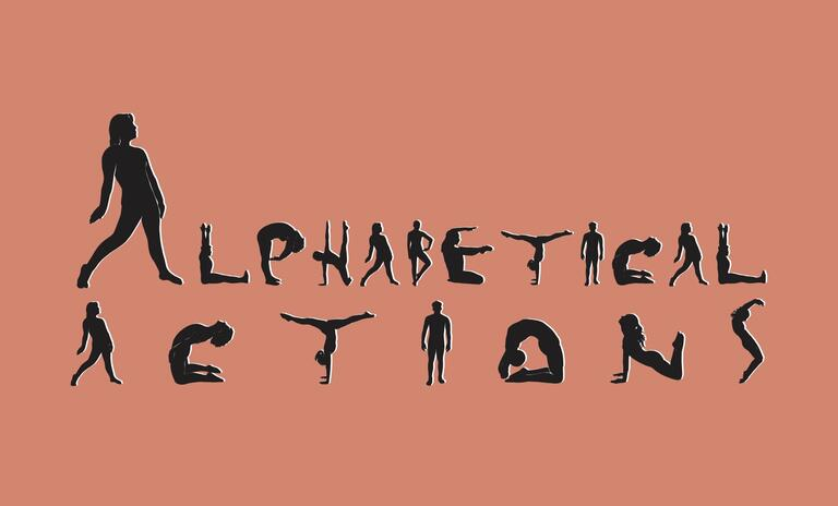 """Human bodies spell out """"Alphabetical Actions"""""""