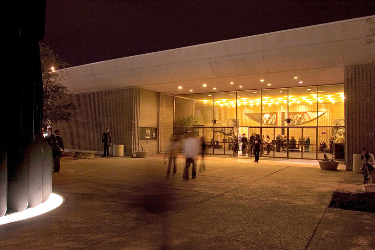 Judy Bayley Theatre at night