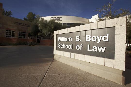 The William S. Boyd School of Law building