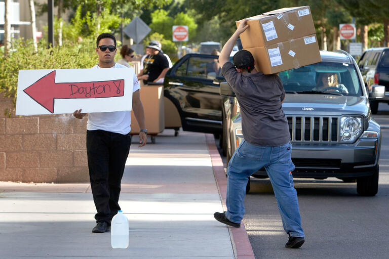 Students begin moving into campus residence halls