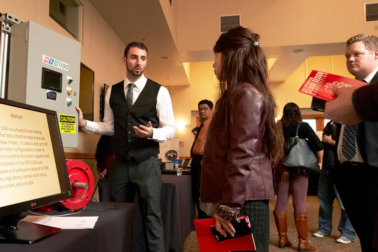 Students participate in the Fred and Harriet Cox Senior Design Competition