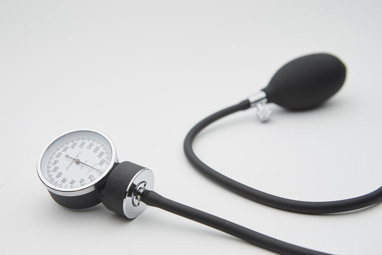 blood pressure equipment against white background