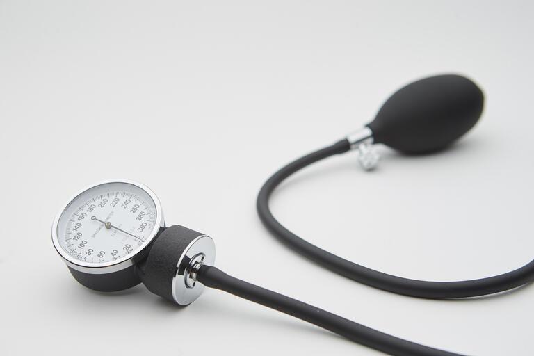 blood pressure equipment against white background