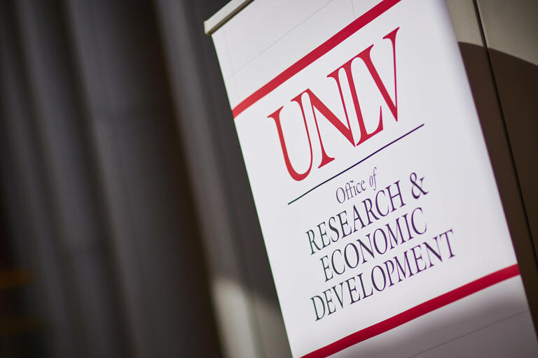 "sign for ""UNLV Research & Economic Development"""