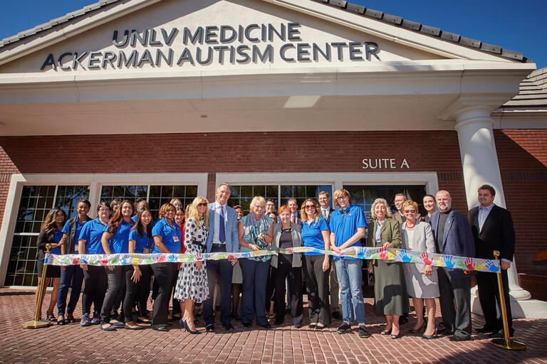 Grand opening of UNLV Ackerman Center for Autism and Neurodevelopment Solutions