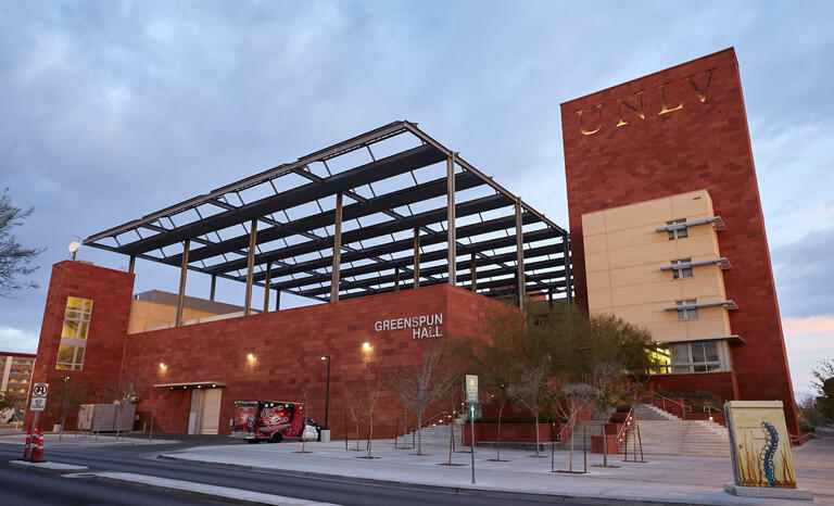 exterior of UNLV Greenspun Building