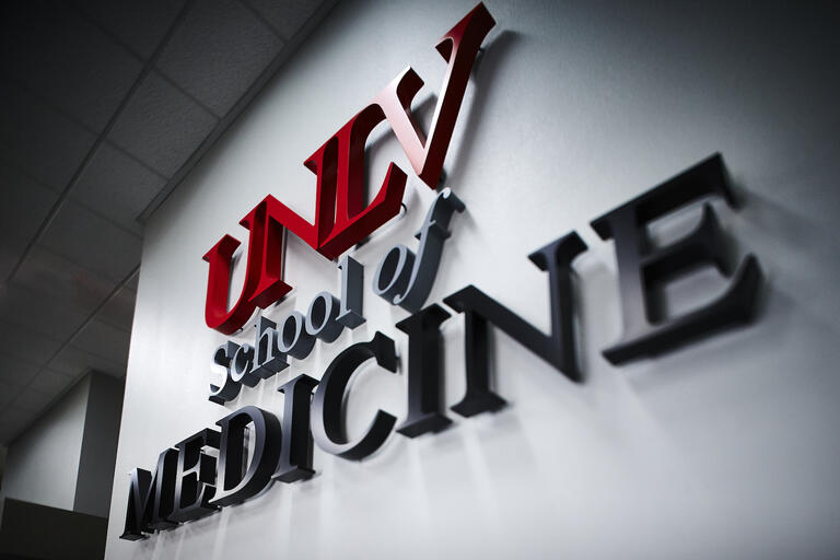 UNLV School of Medicine signage on wall