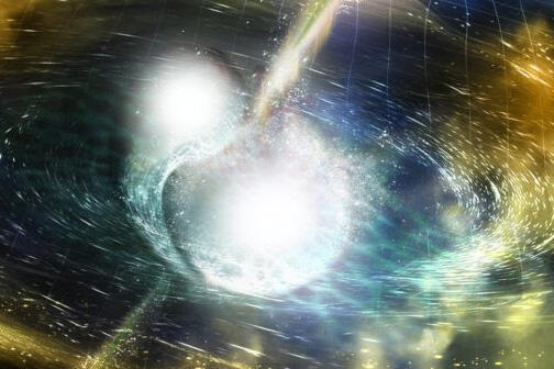 artist rendering of neutron star merger