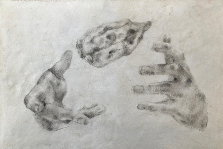 A sketch of hands