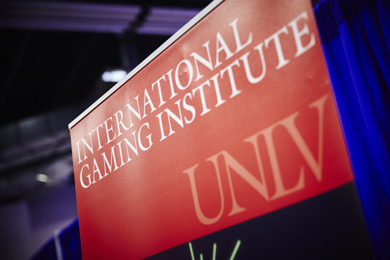 UNLV gaming institute sign