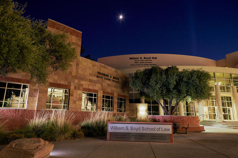 Exterior of UNLV Boyd School of Law