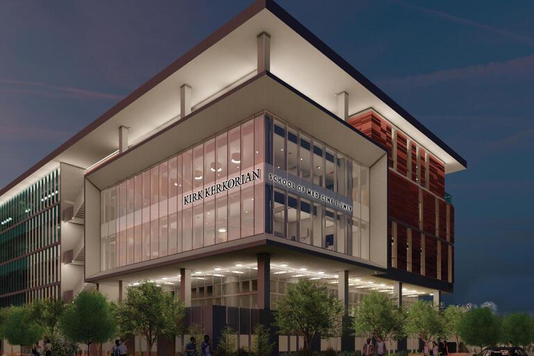 rendering of Kerkorian Medical Education Building
