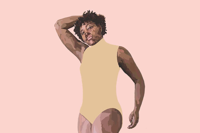 illustration of Black dancer in leotard