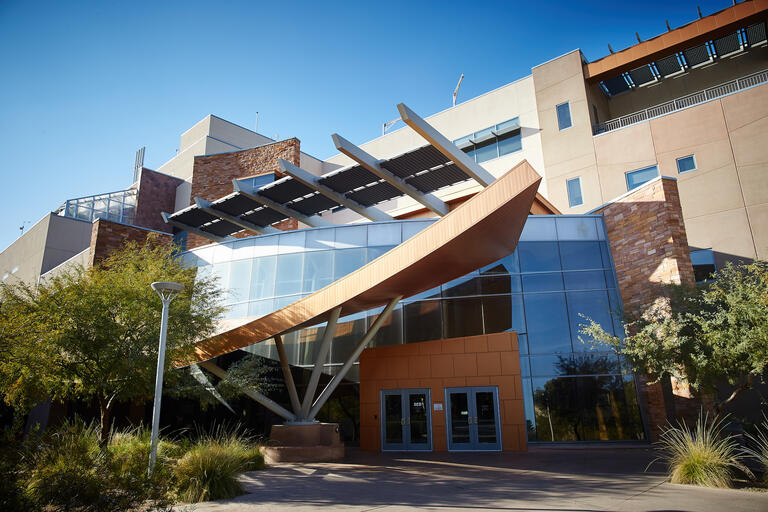 A photo depicting the exterior of the Science and Engineering Building on UNLV's campus.