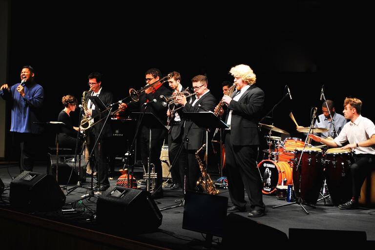 UNLV Latin Ensemble performs