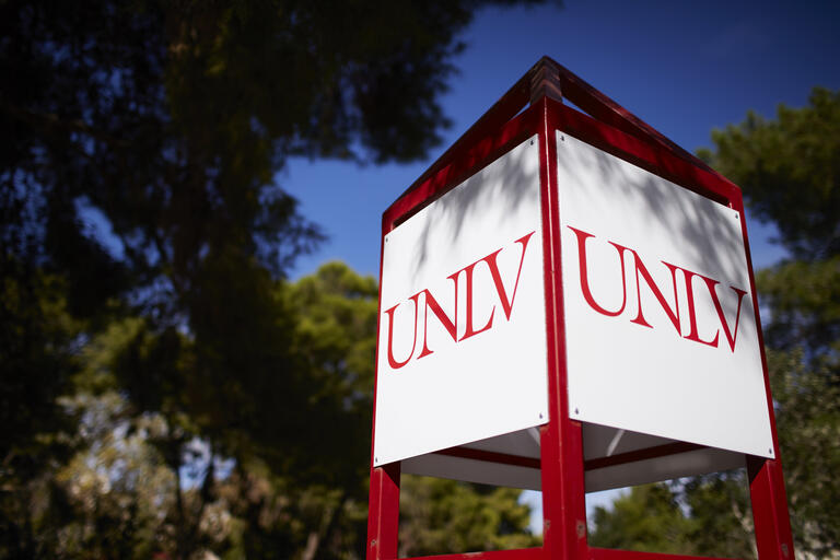 UNLV sign on campus
