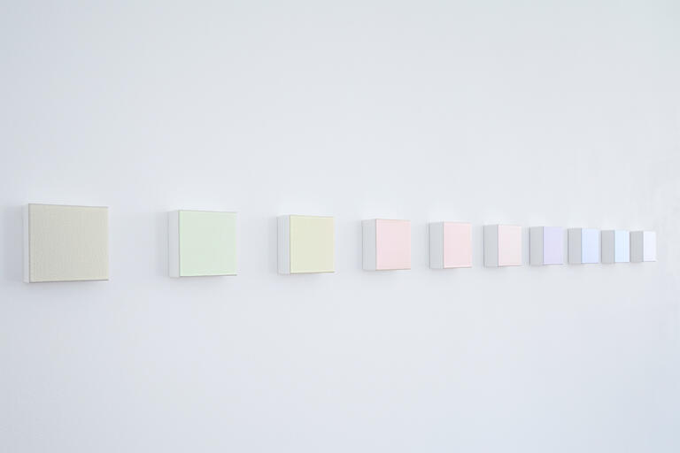series of color blocks