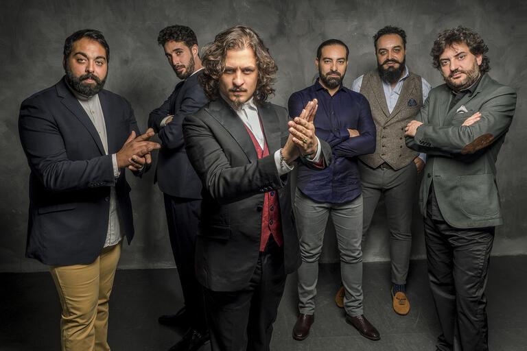 group of 6 men