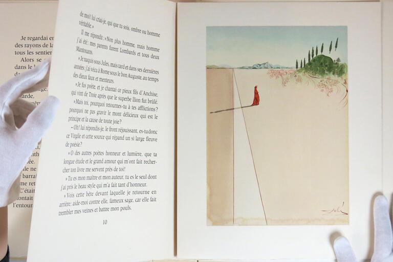 "Detail of Salvador Dali's ""Dante's Inferno Plate 1"" 1970, Woodcut print"