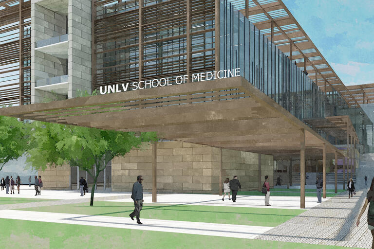 A rendering of the UNLV School of Medicine