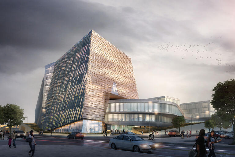 School of Medicine academic building rendering