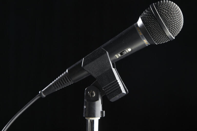microphone closup