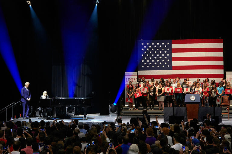 Vice President Joe Biden and singer Lady Gaga visit UNLV