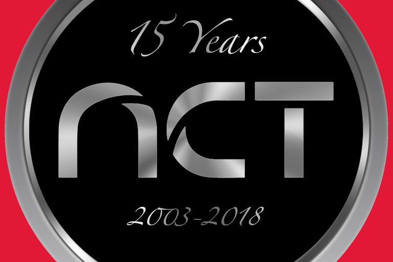 NCT logo celebrating 15 years