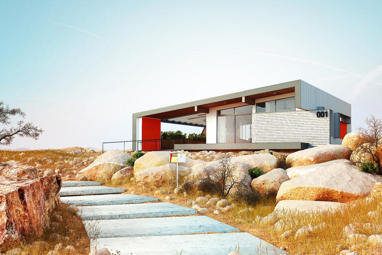 UNLV's Team Las Vegas design of a full-size solar-powered house