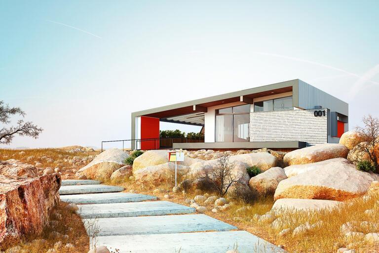 UNLV's Team Las Vegas design of a full-size solar-powered house