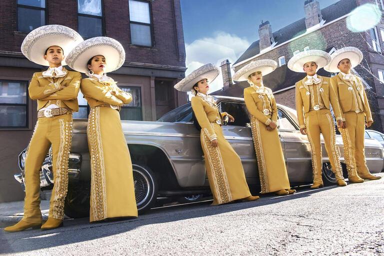 six mariachi musicians
