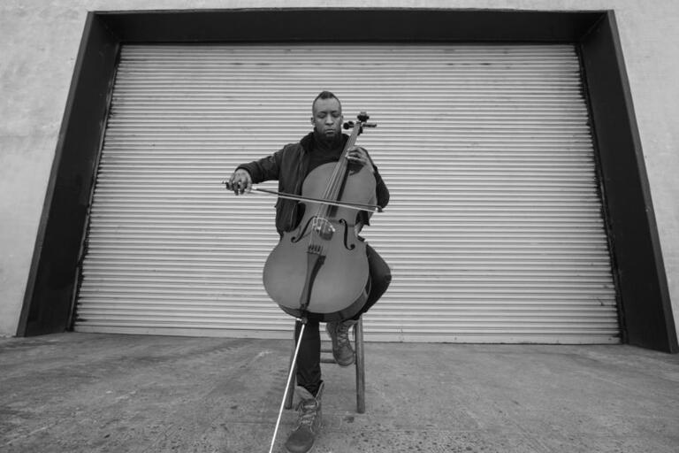 man with cello