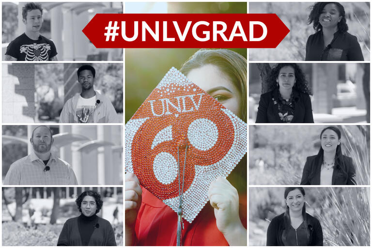 photo collage with text for #UNLVGrad