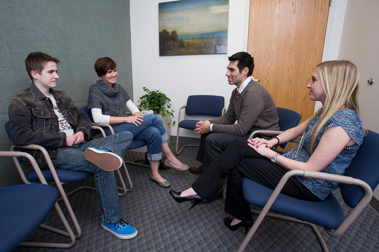 People participate in group counseling