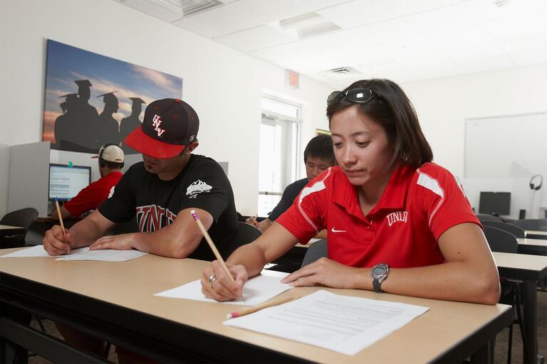 Students take test