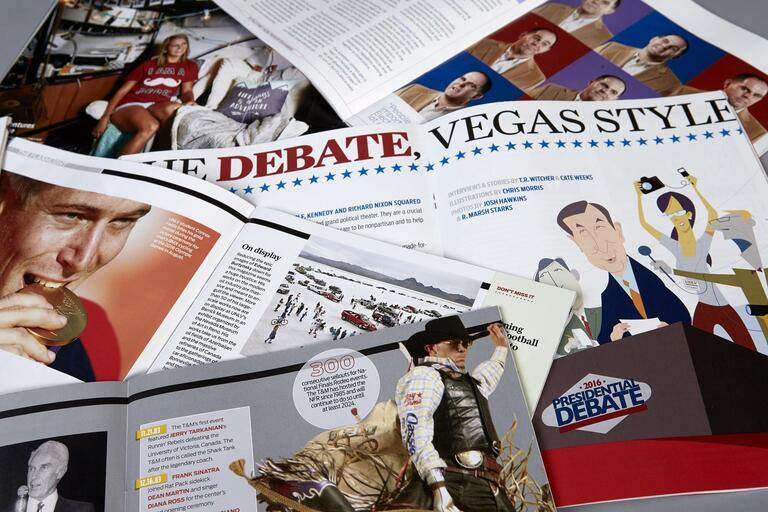 Open magazines.
