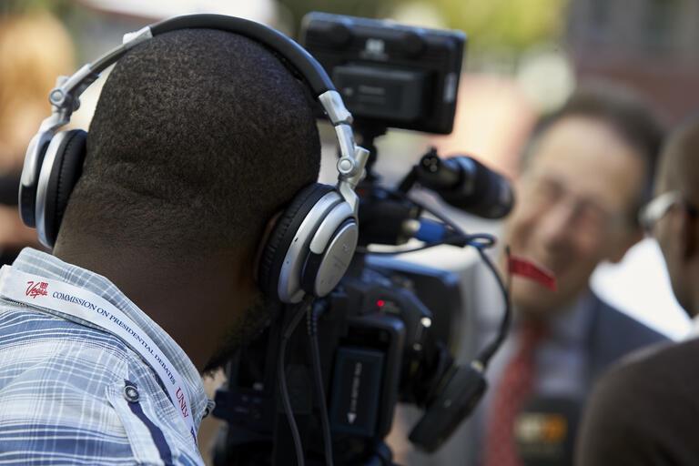 Camera operator filming
