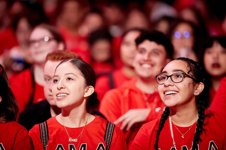 Students in the crowd at UNLV Creates