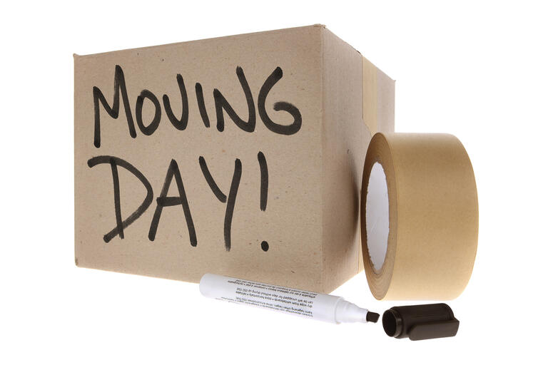 Moving box and masking tape