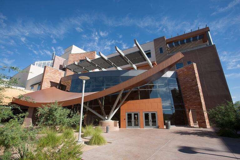 Exterior shot of the Science and Engineering Building