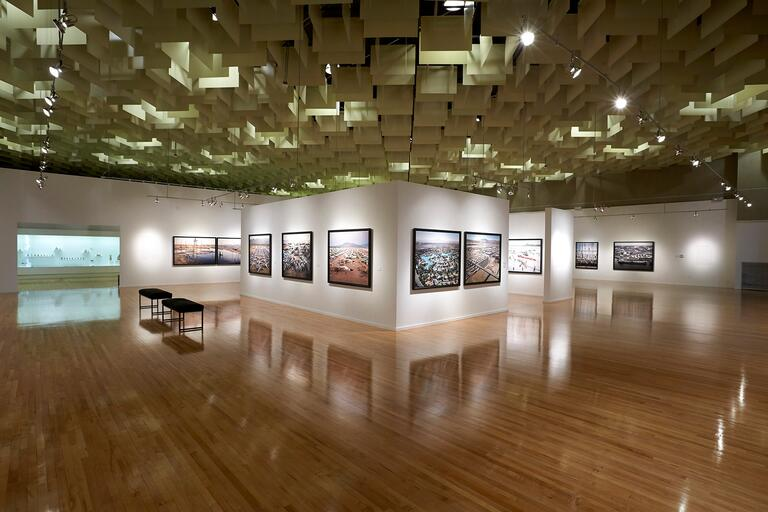 view of gallery inside the museum