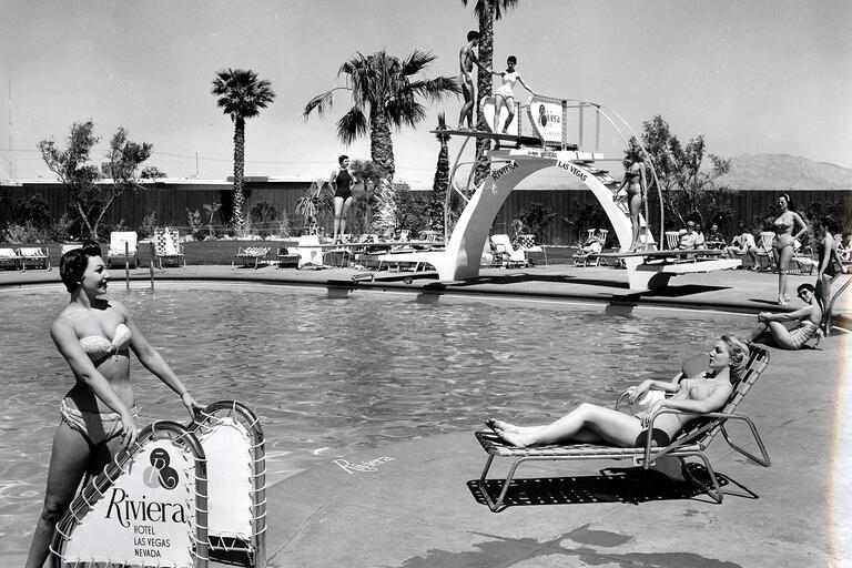 Pool scene at Riviera Hotel and Casino