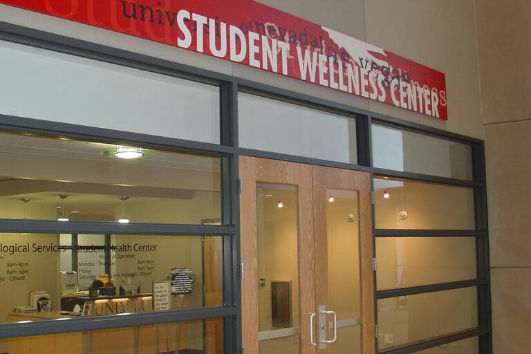 Student Wellness Center office front doors