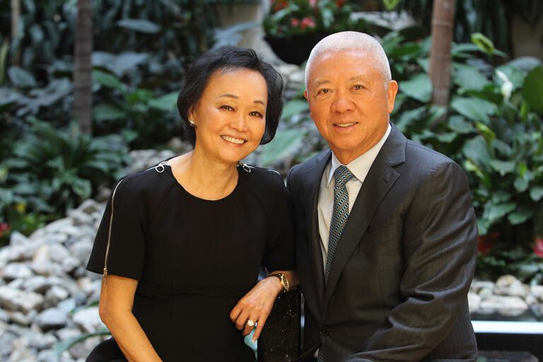 Photograph portrait of Peggy and Andrew Cherng