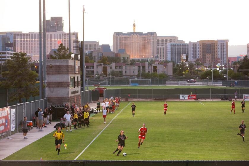 Soccer game at Peter Johann Soccer Field