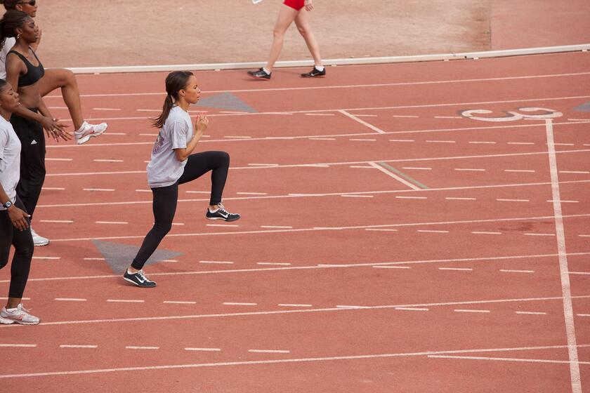 Athletes compete at Myron Partridge Track Stadium
