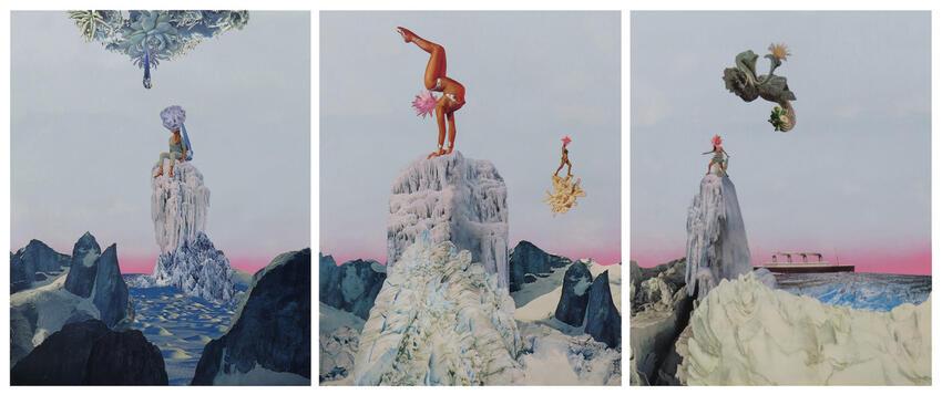 Three paintings.