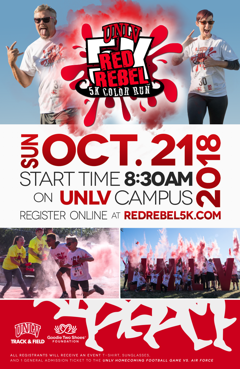 5k color run event poster