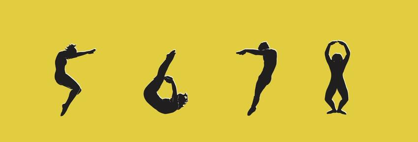 Dancers in shadow forming the numbers 5, 6, 7, 8.